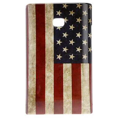 Retro Style US Flag Pattern Hard Case for LG E400/L3