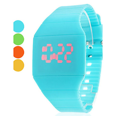 Women's Quartz Wrist Watch Fashion Watch LED Cool Silicone Band Casual Blue Red Yellow