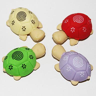 ayrılabilir kaplumbağa şeklindeki silgi (2 adet rastgele renk)