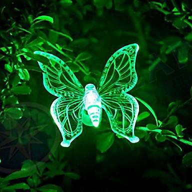 A forma di farfalla Solar Energy Pin lampada Arcobaleno