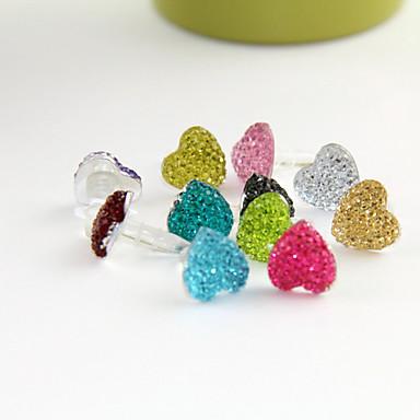 Joyland reine Farbe Herzform Anti-Staub-Kopfhöreranschluss (ramdon Farbe)