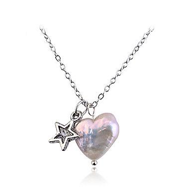 Lureme®Heart & Star Pearl Necklace