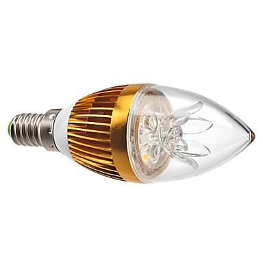 3W 3000lm E14 LED Kerzen-Glühbirnen C35 3 LED-Perlen Hochleistungs - LED Abblendbar Dekorativ Warmes Weiß 220-240V