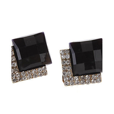Tangential Gem Diamond Earrings