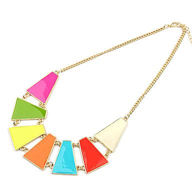 Empalme geométrica fluorescente multicolor collar de la aleación