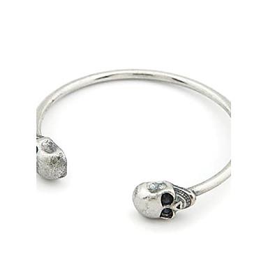 Skull Antique Silver Vintage Bracelet (Assorted Color)