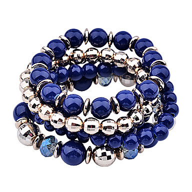 Dames Strand Armbanden Acryl Verguld Oranje Beige Groen Blauw Sieraden Voor Feest Dagelijks Causaal 1 Set