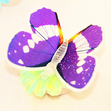 Controllable LED Light Butterfly Shaped Fridge Magnet(Random Colors)