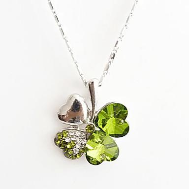 Trébol de cuatro hojas Crystal Necklace (colores surtidos)