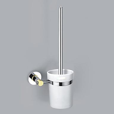 çağdaş tarzı krom kaplama zamak duvar tuvalet fırçası tutucu monte
