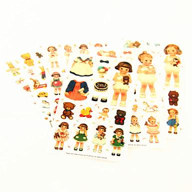 Cute Doll Pattern PVC Sticker(Random Colors)