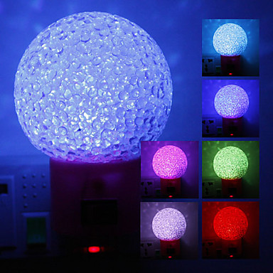 Crystal Ball Shaped Color Changing LED Night Light (220V)