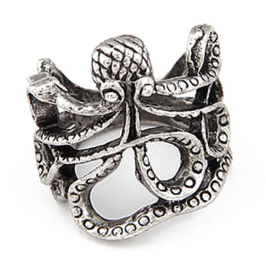 Vintage Alloy Octopus Pattern Ring(Assorted Color)