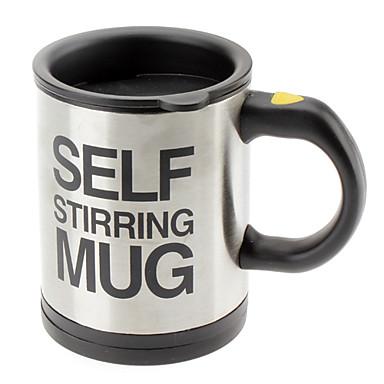 Otomatik kahve karıştırma fincan / kupa drinkware paslanmaz çelik kahve fincan kendini karıştırma elektrikli kupa düğmesi