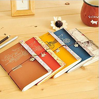 Elegant Postmark Pattern Cashmere Paper Soft Cover Notebook (Random Color)