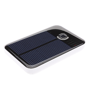 Solar Energy Power Bank with Double USB Output for iPad, iPhone and More
