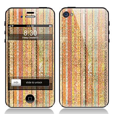 Stripe conception peinture Film de protection écran avant et arrière pour iPhone 4/4S