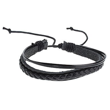 Men's Leather Others Chain Bracelet Leather Bracelet - Unique Design Fashion Black Bracelet For Christmas Gifts Sports