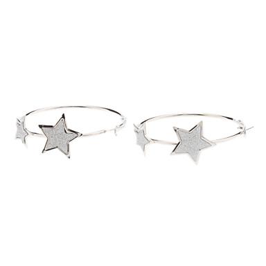 다섯 스타 원형 귀걸이