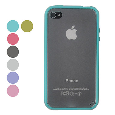 TPU Candy Color Matting Hard Case for iPhone 4/4S(Assorted Colors)