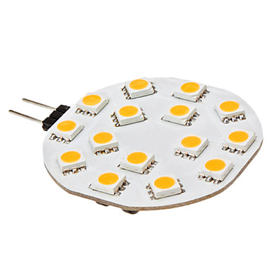 3W G4 LED Bi-pin Işıklar 15 SMD 5050 210 lm Sıcak Beyaz DC 12 V