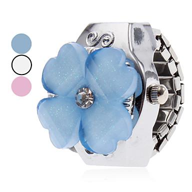 preiswerte Damen Uhren-Damen Uhr Ringuhr Japanisch Quartz Legierung Silber Armbanduhren für den Alltag damas Blume Zeichentrick Weiß Blau Rosa / Ein Jahr / Ein Jahr / SSUO SR626SW