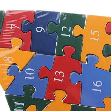 아이들의 기린 모양의 다채로운 알파벳 & 수 나무 퍼즐 빌딩 블록 (26PCS)