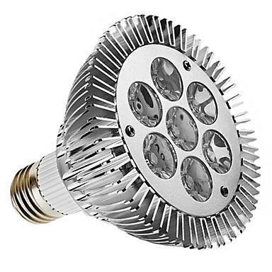 7W E26/E27 LED Spotlight PAR30 7 High Power LED 450 lm Warm White Dimmable AC 220-240 V