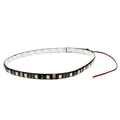 60cm 6W 30x5050SMD White LED Strip Light for Car Instrument/License Plate Lamp (12V)