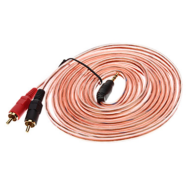 New 3.5mm Male to 2 RCA Audio Cable for MP3 PC iPOD MP4 (3m)