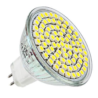 300lm GU5,3(MR16) LED-kohdevalaisimet MR16 80 LED-helmet SMD 3528 Neutraali valkoinen 12V