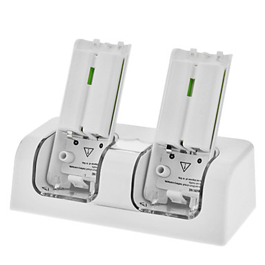 Oppladbart batteri Station for Wii + 2 x 2800mAh oppladbare batterier