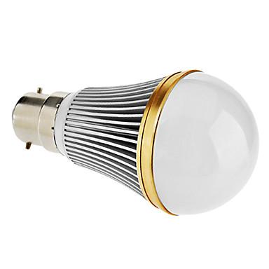 B22 7 W 7 High Power LED 420-450 LM Warm White Dimmable Globe Bulbs V