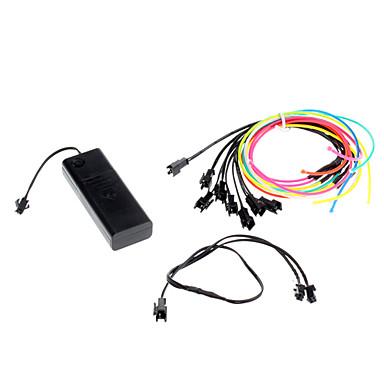 3 Meter Flexible Car decorativo Neon Light 2.3mm EL cable de la cuerda con la batería de alimentación