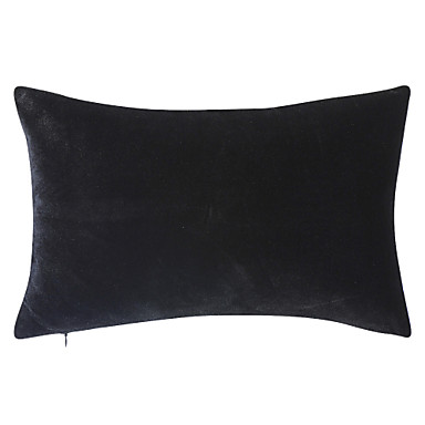 Şık Siyah Polyester Dekoratif Yastık Kılıfı
