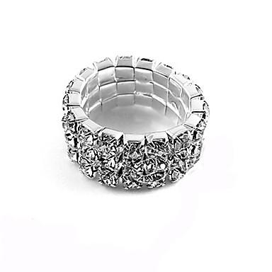 Brillante anillo de la aleación del Zircon de tres filas