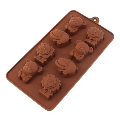 Cartoon Lion Mouse Hippo Shaped Silicone Chocolate Mould
