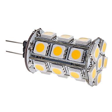 3000lm G4 LED Mısır Işıklar T 24 LED Boncuklar SMD 5050 Sıcak Beyaz 12V