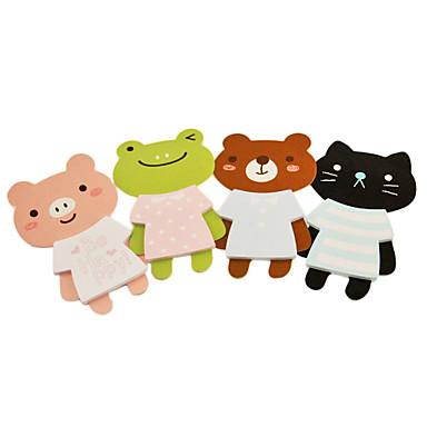 Cartoon modèle animal Sticky Note (couleurs aléatoires)