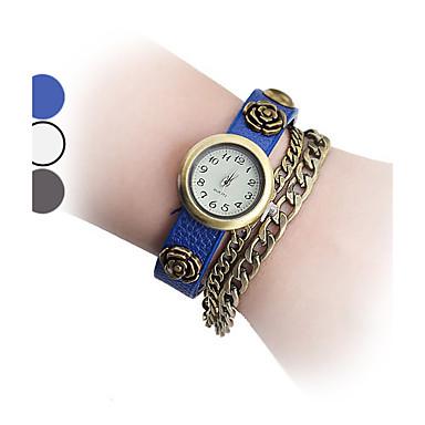 Vintage Rose Pattern Analog Quartz  Chain Watch Cool Watches Unique Watches
