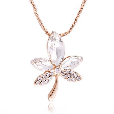 Zircon Crystal Leaf Pattern Necklace