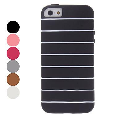 Streifen TPU weicher Fall für iphone 5/5s (farblich sortiert)