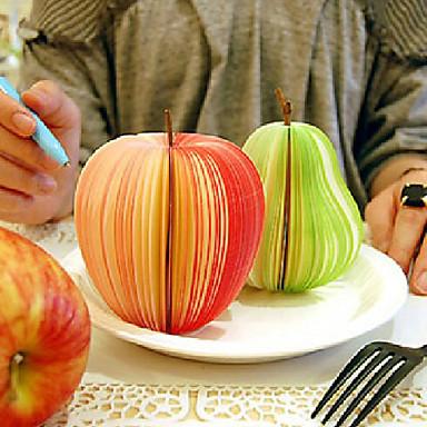 Симпатичные творческие канцелярские принадлежности фрукты и овощи отмечает заметки заметки заметки