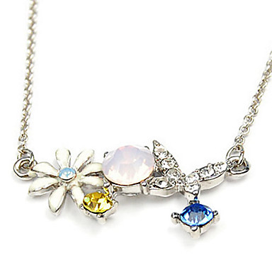 Butterfly & Flower Alloy Necklace (Assorted Color)