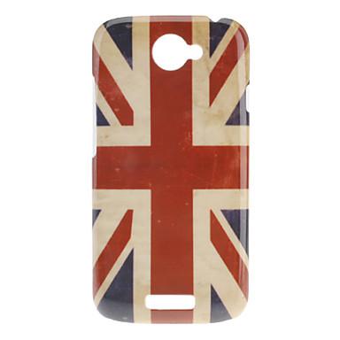Stile Bandiera modello Custodia rigida UK Retro per HTC One S
