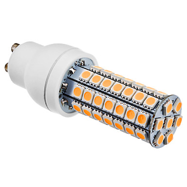 GU10 LED Corn Lights 63 SMD 5050 550lm Warm White 3000K AC 220-240V