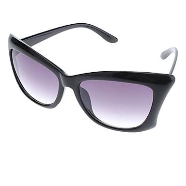 Women's Blue Lens Black Frame UV400 Protection Cat Eye Sunglasses
