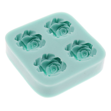 3D Flower Shaped Silicone Cookie Biscuit Mold