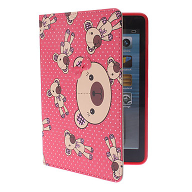 Cartoon Bears Pattern Full Body Case with Stand for iPad mini (Assorted Colors)