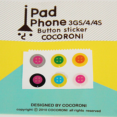 Button Pattern Button-Sticker for iPhone/iPad/iTouch (6 Pack)